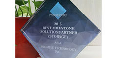 Promise named Best Storage Solution Partner for Asia by Milestone Systems
