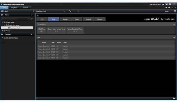 BCD International Debuts Harmonize iDRAC Plug-In With Milestone Systems XProtect Video Management Software