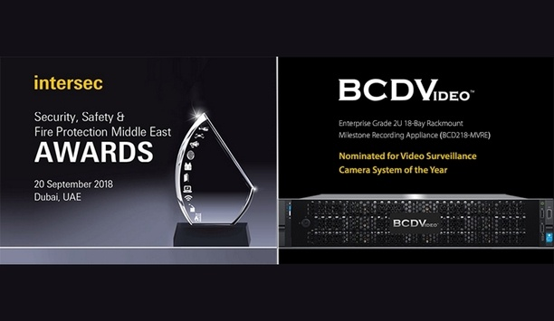 BCD218-MVRE nominated for the Video Surveillance/Camera System of the Year award at Intersec 2018