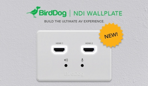 ISE 2020: BirdDog launches NDI wallplates with hardware for permanent mounting on walls and boardroom tables
