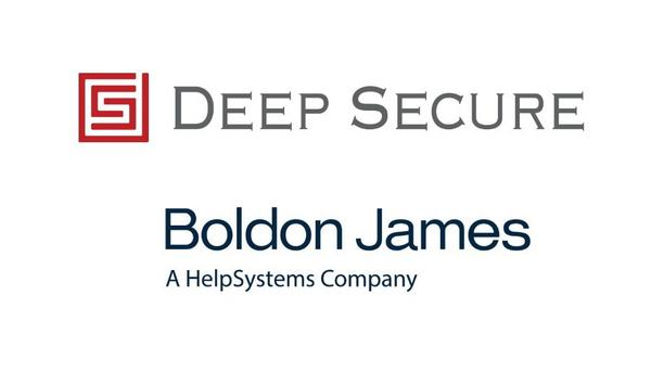 Boldon James Ltd. And Deep Secure Form Technology Alliance To Enable Secure, Efficient Delivery Of Data Across Multiple Sectors