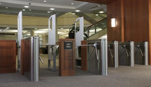 Boon Edam's Trilock 3-arm tripod turnstiles conform with UL 294 and CAN/ULC S319 certifications