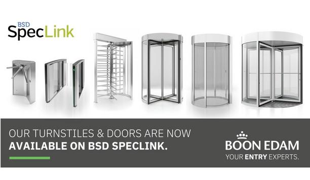 Boon Edam announces that their most in-demand entrance products are now available on BSD SpecLink