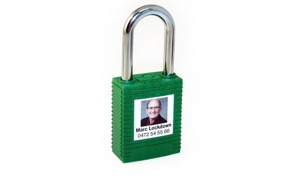 Brady Corporation offers PrintFace padlock personalisation to print a face on padlocks