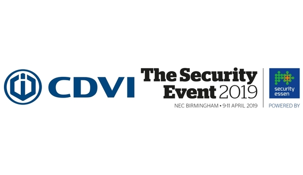 CDVI UK announces participation in The Security Event 2019