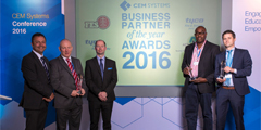 CEM Systems announces winners of EMEA Business Partner of the Year Awards 2016