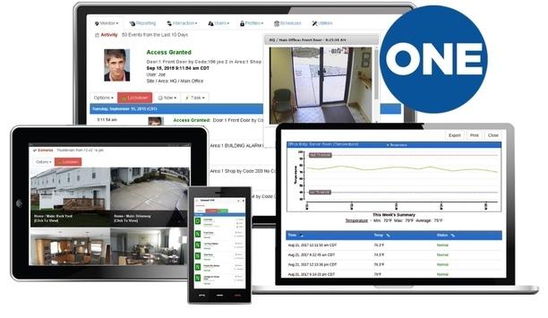 Connect ONE Cloud-hosted Security Management Platform Integrates DoorBird Video Doorbell