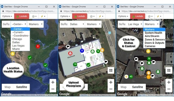 Connected Technologies releases GeoView mapping feature for Connect ONE cloud-hosted security management platform