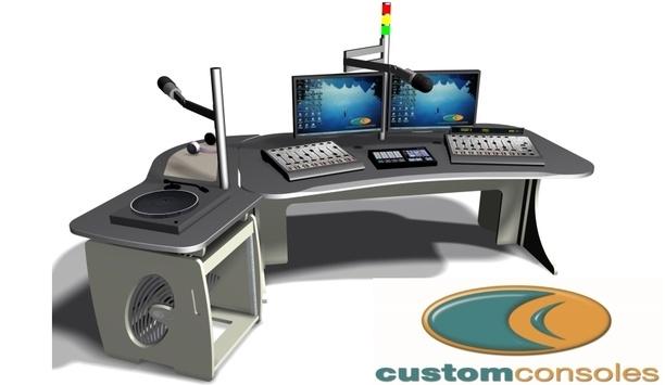 Custom Consoles' video walls and studio desks facilitate broadcast monitoring