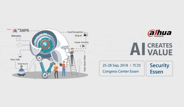 Dahua to showcase developments in AI-powered intelligent solutions at SECURITY ESSEN 2018