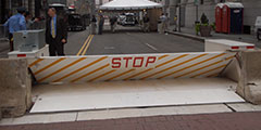Delta Scientific's MP5000 Vehicle Crash Barrier Deployed At Democratic Convention Philadelphia