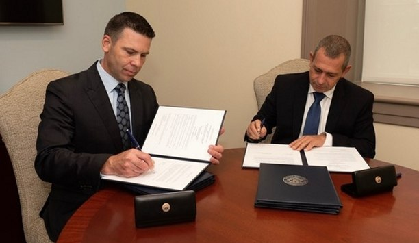 DHS Acting Secretary Kevin McAleenan signs agreements with ISA's Nadav Argaman to address key issues