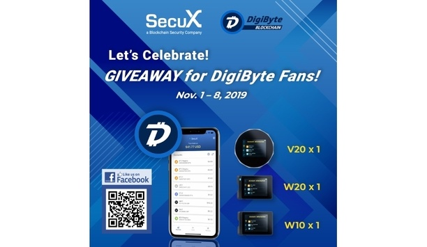 SecuX announces crypto hardware wallets V20, W20 and W10 support DigiByte (DGB)