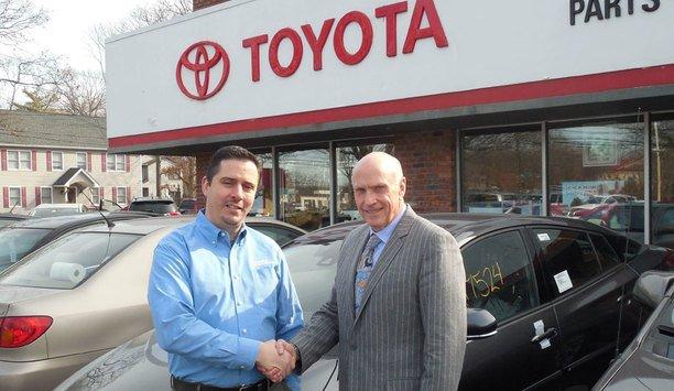 Digital Provisions' outdoor burglar alarm system secures auto dealership Smithtown Toyota