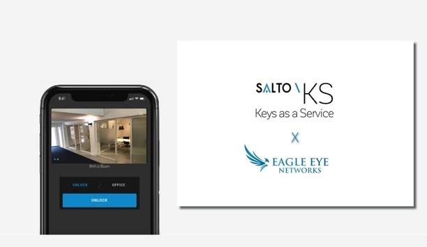 Eagle Eye Cloud VMS Surveillance product integrated via cloud within Salto KS application