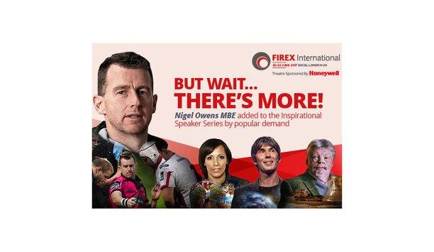 FIREX International and Autonomous FM add Nigel Owens MBE to 2017 June Keynote programme