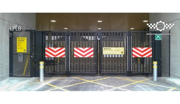 Frontier Pitts exhibits Secured by Design accredited LPS1175 Automatic Bi-folding Gate SR2 at IFSEC 2019