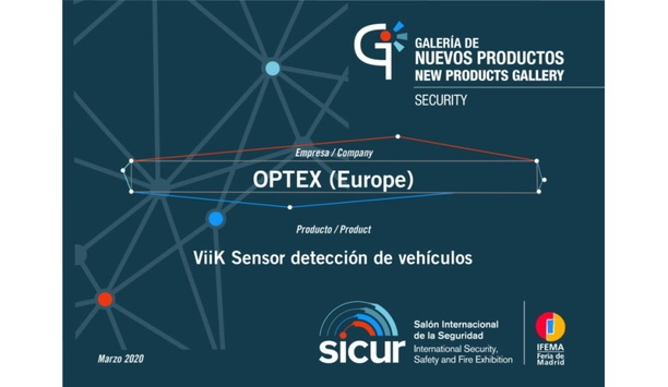 OPTEX Recognized With Innovation Award For Its Innovative Range Of Vehicle Sensors Called ViiK At SICUR 2020
