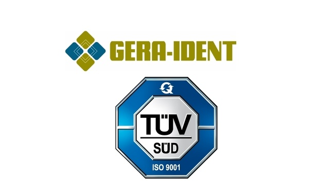 GERA-IDENT receives DIN EN ISO 9001:2015 certification due of its improved products and services