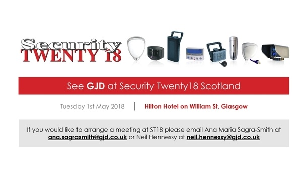 GJD exhibits detection and LED illumination solutions at Security TWENTY 18 Scotland