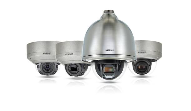 Hanwha Techwin introduces four stainless-steel dome cameras to Wisenet X series