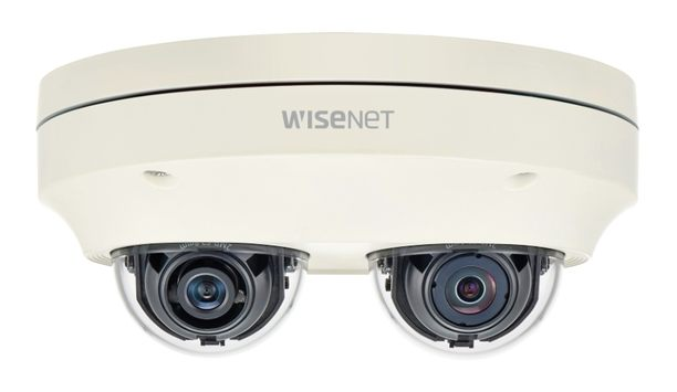 Hanwha Techwin's PNM-7000VD, two-channel multi-directional camera features 360-degree surveillance