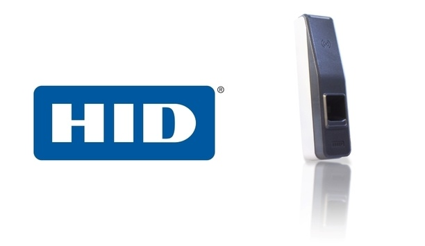 HID Global's iCLASS SE RB25F fingerprint reader offers reliable biometric authentication at the door