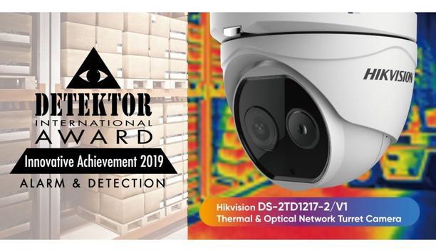 Hikvision's Thermal & Optical Network Turret Camera wins award at 2019 Detektor International Awards