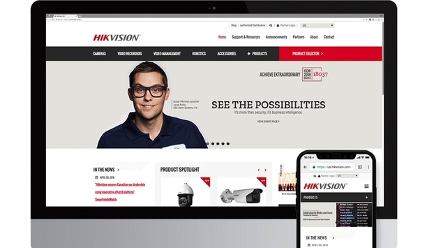 Hikvision's French website simplifies navigation for security integrators