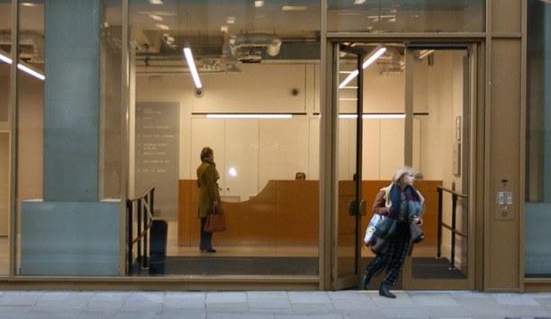 IDF Aluminum Safeguards A Building In London's Finsbury Square By Installing Alpro's Transom Closers And Locks