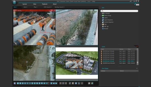 IDIS integrates Center and Solution suite with DAVANTIS Daview LR video analytics system
