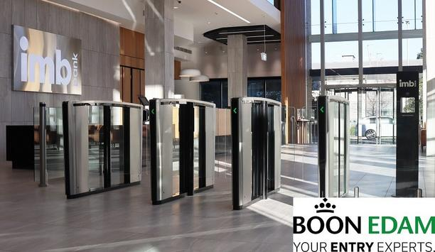 IMB banks on Boon Edam's elegant entrance security at new Wollongong Building