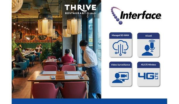 Interface Security Systems deploys SD-WAN, 4G/LTE wireless connectivity, UCaaS and video security system for Thrive Restaurant Group