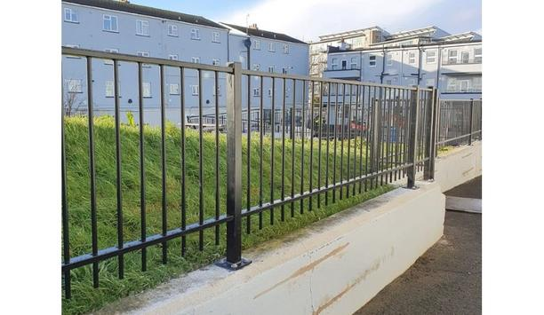 Jackson Fencing provides Sentry Residential railings to enhance perimeter security for a social housing regeneration project