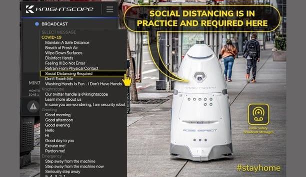 Knightscope, Inc. Announces Deploying COVID-19 Public Safety Announcements Across Its Fleet Of Autonomous Security Robots