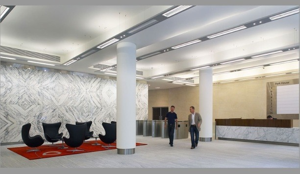 Park House At London's Finsbury Circus Upgrades Access Control With Boon Edam's Speedlane Swing Optical Turnstiles