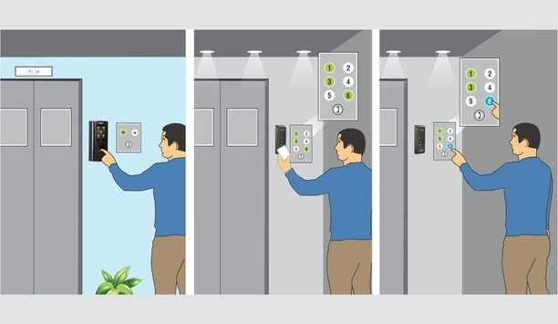 Matrix's Elevator Based Access Control Employs Biometric Or RFID Card Credential