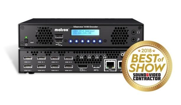 Matrox Maevex 6150 Quad 4K Enterprise Encoder Wins Best Of Show Award At NAB 2018