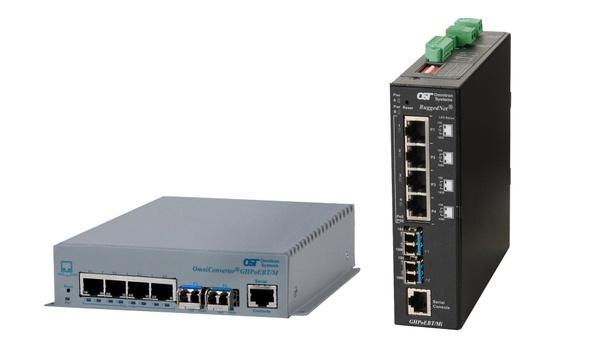 Omnitron introduces new IEEE 802.3bt 100Watts ruggedised switches that aid PTZ surveillance cameras