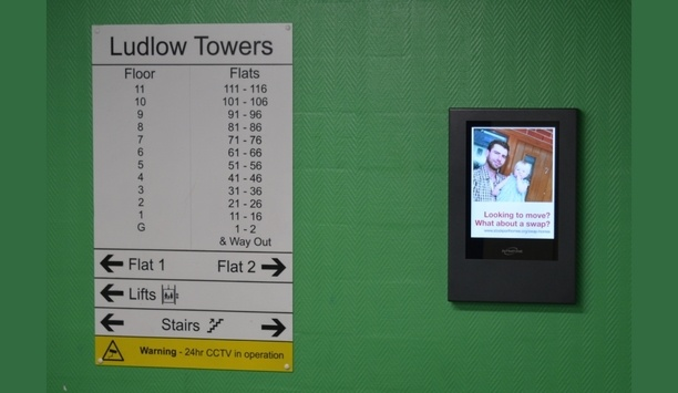 OpenView Alongwith Stockport Homes Installs Intratone's Digital Noticeboards At Residential Tower Block Property