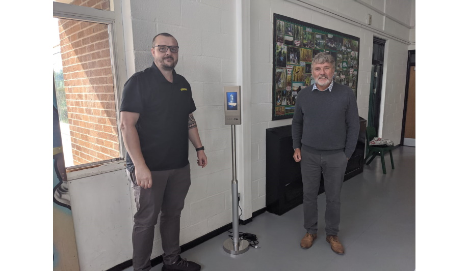 Oprema donates Olix OBTM-FS1 BTM Terminal to Greenhill School