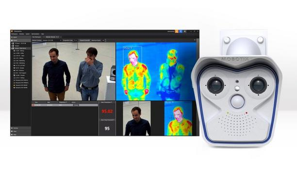 Panasonic i-PRO Video Insight VMS plug-in and MOBOTIX M16/S16 cameras detect elevated skin temperature and issue alerts