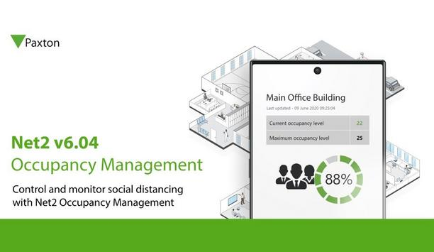 Paxton unveils new version v6.04 Net2 Occupancy Management & Thermal Scan integrations to facilitate COVID-secure Buildings