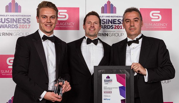 Pyronix wins SOTpay Excellence in Customer Service award at 2017 Barnsley and Rotherham Business Awards