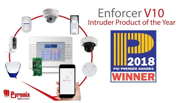 Pyronix's Enforcer V10 wins PSI Intruder Product of the Year award for the second year running