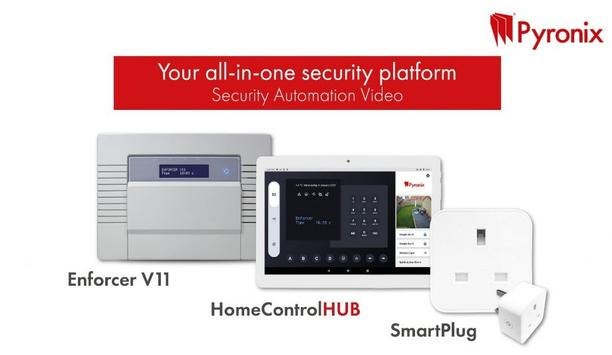 Pyronix launches its security, automation and video platform, the Enforcer V11, with AndroidTablet, HomeControlHUB app and SmartPlug