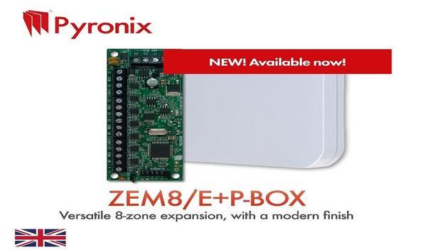 Pyronix launches ZEM8/E+P-BOX, versatile 8-zone expansion
