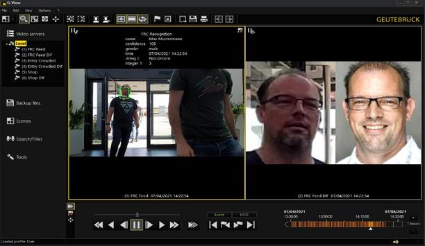 SAFR Facial Recognition for live video integrated with Geutebrück VMS