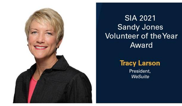 Security Industry Association to present Tracy Larson with 2021 Sandy Jones Volunteer of the Year award at The Advance 2021
