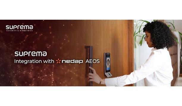 Suprema Integrates Their Facial Recognition Devices With Nedap's AEOS To Provide Contactless Security Solutions